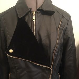 Faux leather jacket from INC